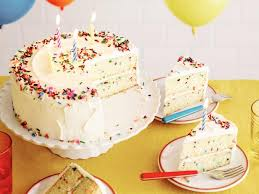 birthday cakes fluffy confetti birthday cake recipe food network kitchen food