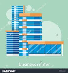 Home Decorators Liquidators Modern Business Center Concept With Item Icons In Flat Design