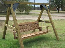 handcrafted wooden swing with stand ok i want it pinterest