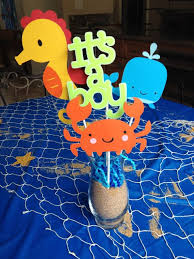 the sea baby shower decorations no sand just crinkle paper and change the sea characters baby