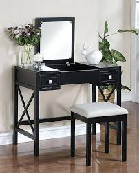 Black Vanity Set With Lights Vanities Black High Gloss Dressing Table With Mirror Black Tri