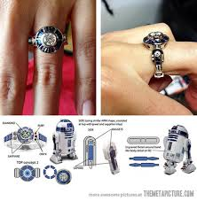 cool engagement rings wars custom r2 d2 engagement ring the meta picture
