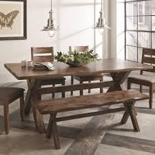 coaster alston rustic dining table with wavy edge coaster fine