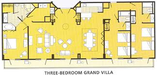 disney boardwalk villas floor plan villas three bedroom grand villa