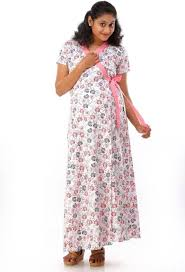 ziva maternity wear ziva maternity wear women s nighty with robe buy multicolor ziva