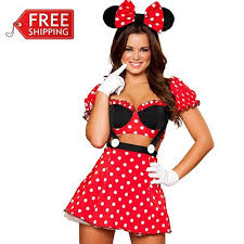 Costumes For Women Aliexpress Com Buy Red Minnie Mouse Costumes Adults Halloween