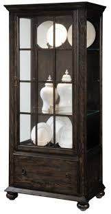Curio Cabinets Pair Curio Cabinet With Drawers Foter