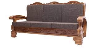 Buy Downing Teak Wood Sofa Set    Seater In Natural Teak - Teak wood sofa sets
