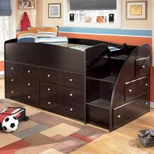 twin loft bed with right steps u0026 chest storage by signature design