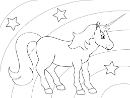 rainbow unicorn free coloring pages art coloring pages
