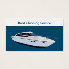 boat cleaning business cards templates zazzle