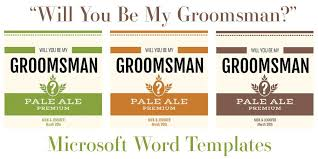 free microsoft word templates for beer bottles