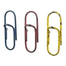 wall mounted coat racks studiolx set of 3 paper clip hooks by