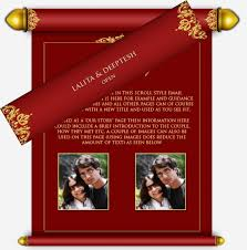 indian wedding invitations scrolls scroll style email wedding invitation design templates