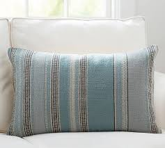 Pottery Barn Decorative Pillows Wentworth Stripe Lumbar Pillow Cover Pottery Barn