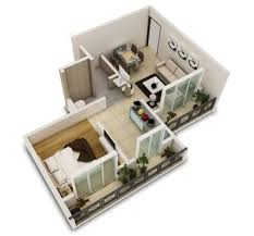 One Bedroom Bungalow Floor Plans by One Bedroom Houses Floor Plans With Design Inspiration 57217