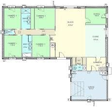 plan de maison de plain pied avec 4 chambres maison plain pied 4 chambres avec sous sol