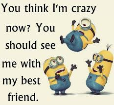 Crazy Friends Meme - crazy friends quotes minions top funny best friend sayings quotes