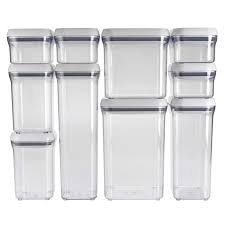 Kitchen Canister Sets Stainless Steel 10 Piece Pop Container Set Oxo