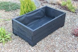 water trough planter 1 metre large wooden garden planter trough extra wide in cuprinol