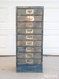 How To Fix A Cabinet Drawer Before And After How To Transform A Rusty Metal Cabinet To A
