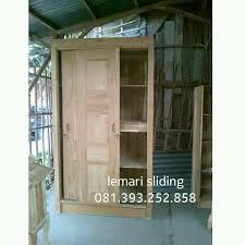 lemari pakaian sliding bahan kayu bagus mbarepjati com