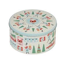 christmas tins festive family christmas tin rex london dotcomgiftshop