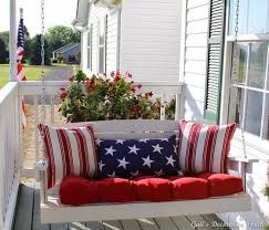 patriotic porch swing porch swings red white blue and front