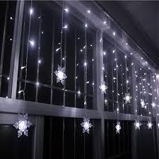 Led Lights For Home Decoration 2018 Home Decor Snowflake Pendant Led String Light