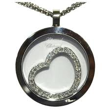 floating heart pendant necklace images Chopard happy floating diamond love heart pendant necklace in 18 jpg