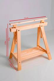 Diy Sawhorse Desk by Cavalete Madeira Pra Mesa Escritorio Com Regulagem De Altura