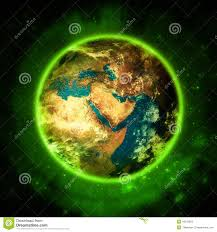Greenliving by Illuminating Green Planet Earth Green Living Stock Illustration