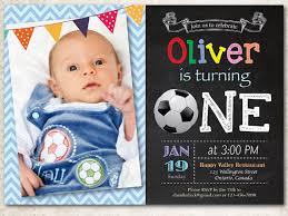 soccer birthday invitation baby boy 1st first birthday party