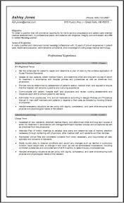 Registered Nurse Resume Sample by Nursing Resume Objective Examples Free Resume Example And