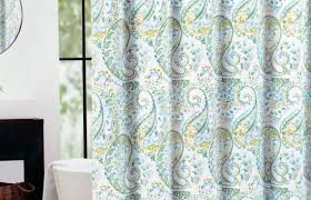 Blue Paisley Shower Curtain Curtains Yellow Blue Curtains Blossom Pale Yellow Blackout