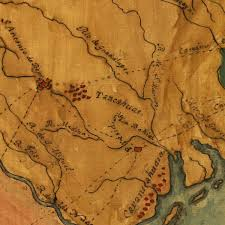 Old Texas Map Texas 1822 Stephen F Austin Mapa Topografico Manuscript Map