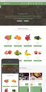 recipes food food recipes html template by themearabia themeforest