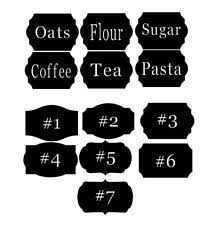 kitchen canister labels canister labels decals stickers vinyl ebay