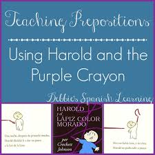 debbie u0027s spanish learning harold and purple crayon activity