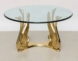brass swan coffee table vintage polished brass swan coffee table at 1stdibs