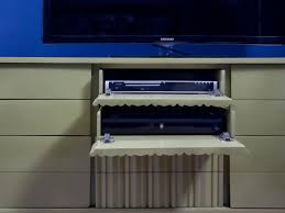 how to turn a dresser into a media console hgtv