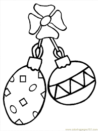 printable ornament coloring home