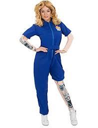 blue jumpsuit costume amazon com costumes womens bionic mechanical jumpsuit