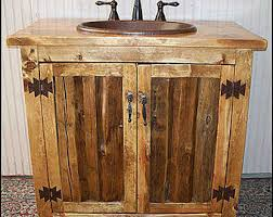 Rustic Bathroom Cabinets Vanities - rustic bathroom vanity copper top 42 bathroom
