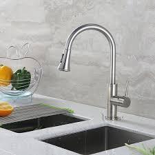 amazon com kitchen faucets luxier kts11 tb contemporary 16