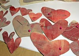 Fabric Heart Decorations The Tamarisk Fabric Heart Decorations With Gel Press
