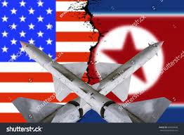 Mass Flag Weapons Mass Destruction Missiles Warheads Stand Stock Photo