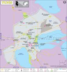 map of tunisia with cities tunis map map of tunis city tunisia