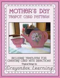mother u0027s day teapot card template think crafts by createforless