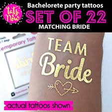 amazon com bachelorette party tattoos by tats4now set of 22 gold